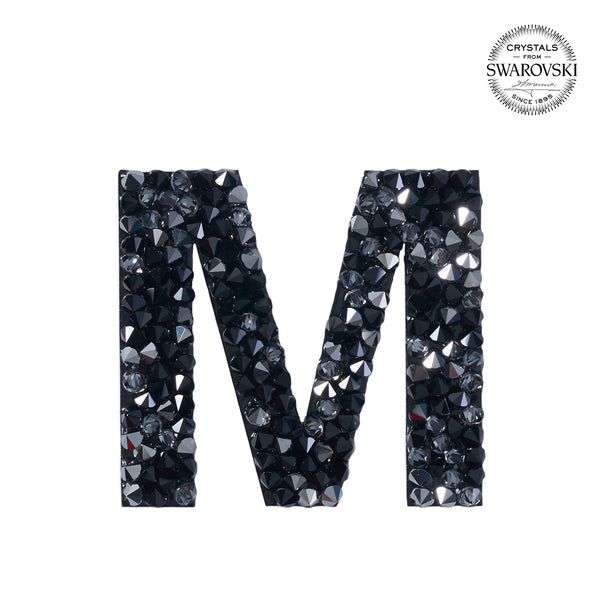 "SWAROVSKI® ADHESIVE STICKER ""M"" - BLACK"