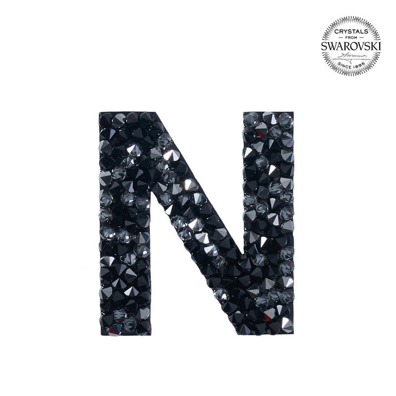 "SWAROVSKI® ADHESIVE STICKER ""N"" - BLACK"