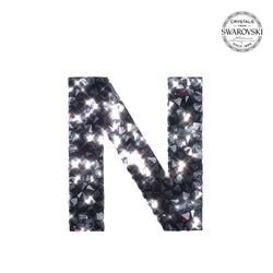 "Select below for letters ""N"" through ""Z"".  Self Adhesive Stickers made with crystals from Swarovski® - BLACK"