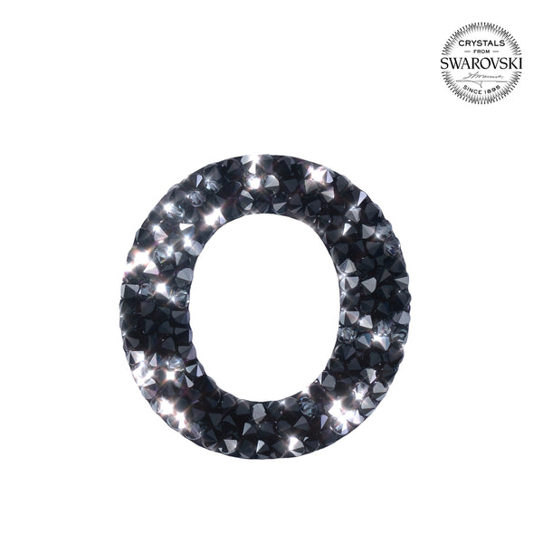 "SWAROVSKI® ADHESIVE STICKER ""O"" - BLACK"