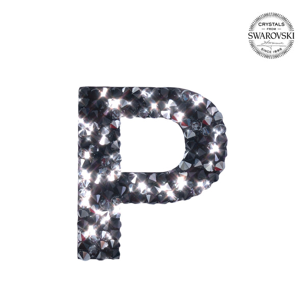 "SWAROVSKI® ADHESIVE STICKER ""P"" - BLACK"