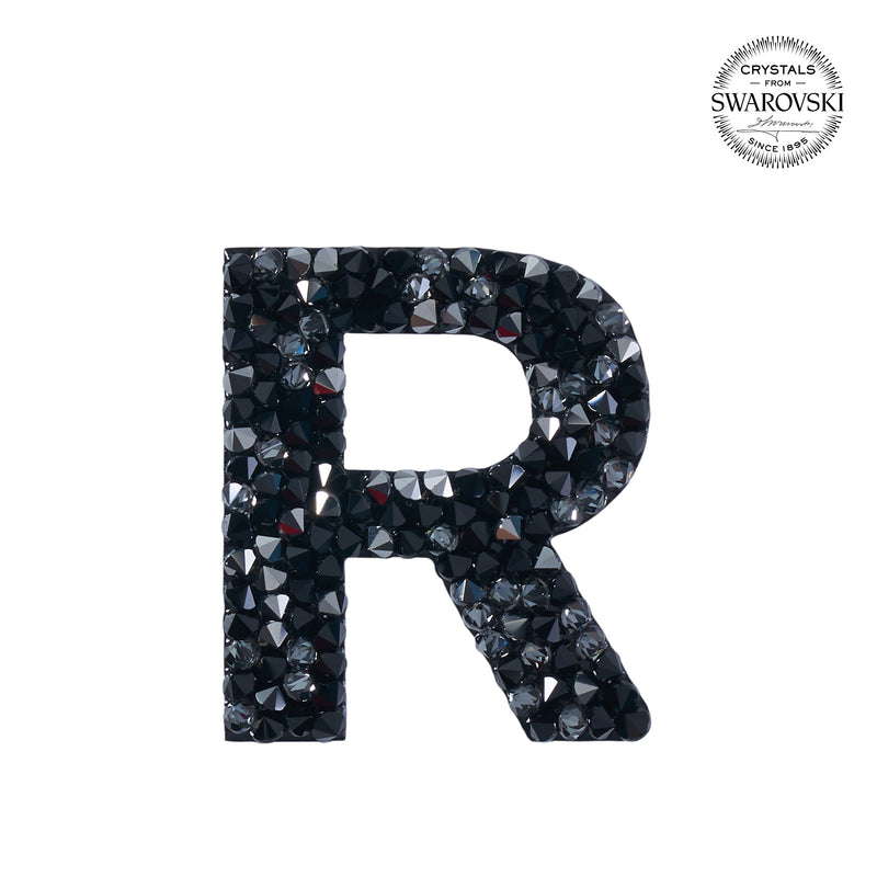 "SWAROVSKI® ADHESIVE STICKER ""R"" - BLACK"