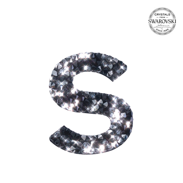 "SWAROVSKI® ADHESIVE STICKER ""S"" - BLACK"
