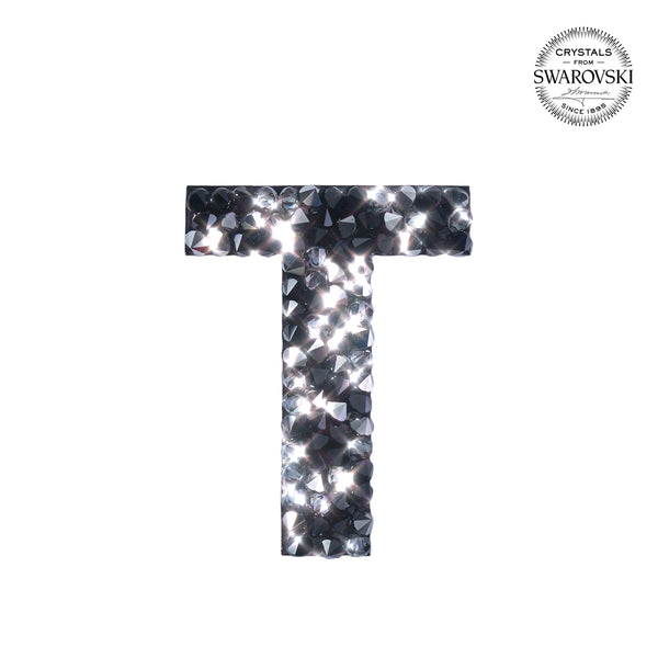 "SWAROVSKI® ADHESIVE STICKER ""T"" - BLACK"