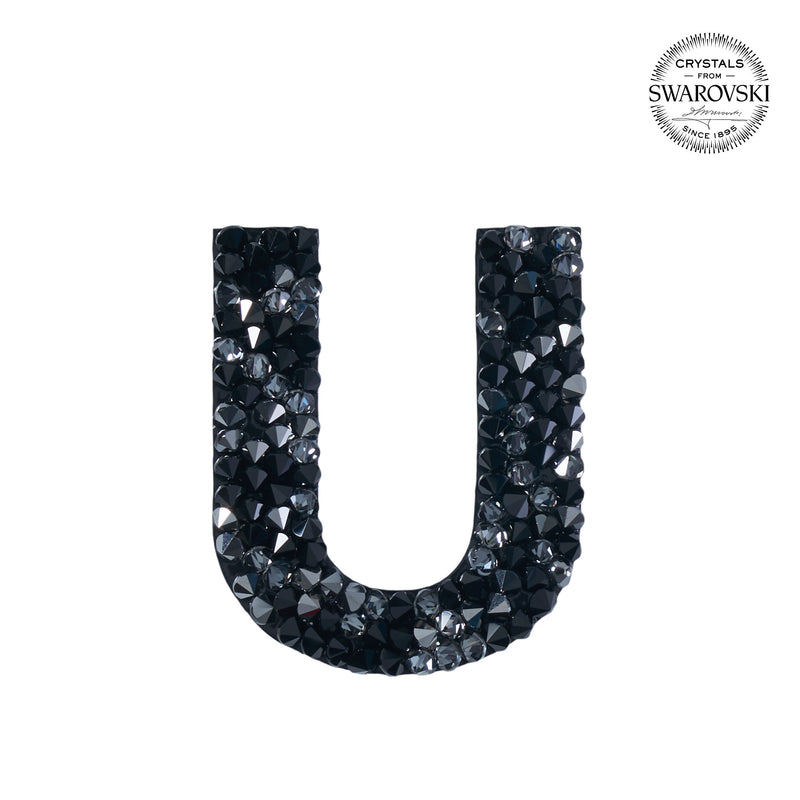 "SWAROVSKI® ADHESIVE STICKER ""U"" - BLACK"