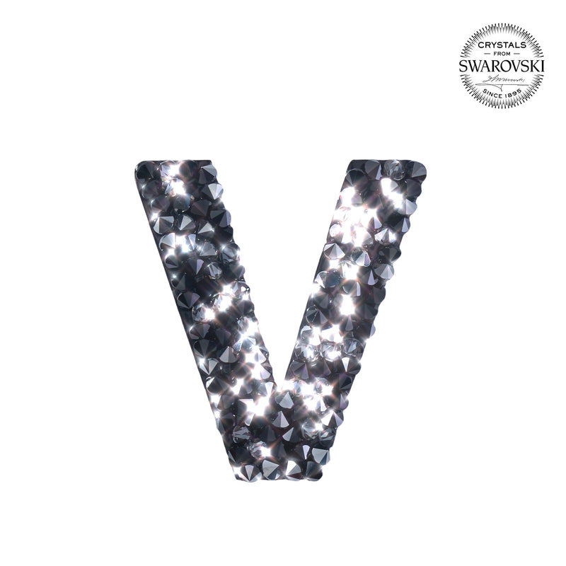 "SWAROVSKI® ADHESIVE STICKER ""V"" - BLACK"