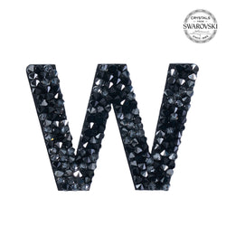 "SWAROVSKI® ADHESIVE STICKER ""W"" - BLACK"