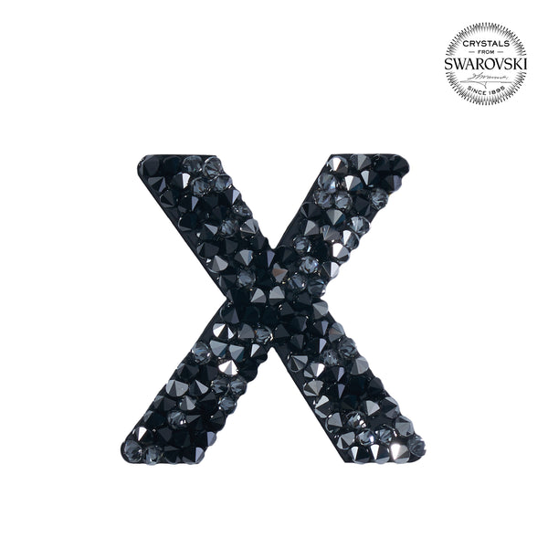 "SWAROVSKI® ADHESIVE STICKER ""X"" - BLACK"