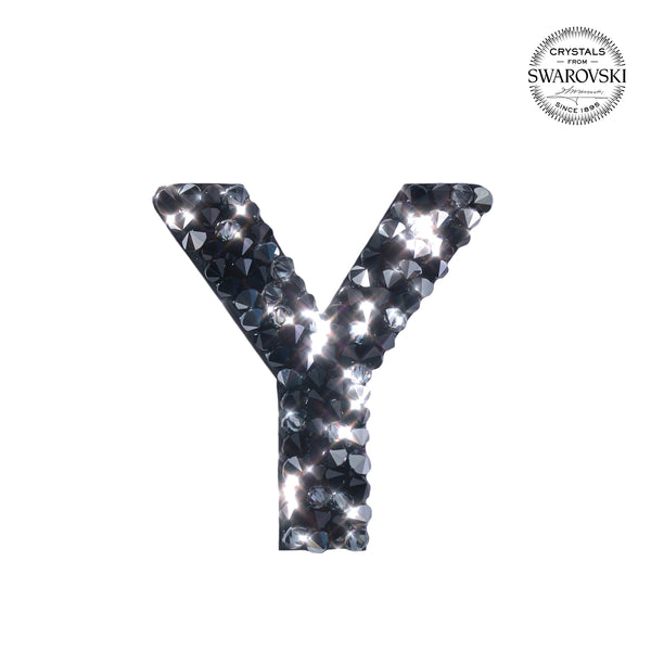 "SWAROVSKI® ADHESIVE STICKER ""Y"" - BLACK"