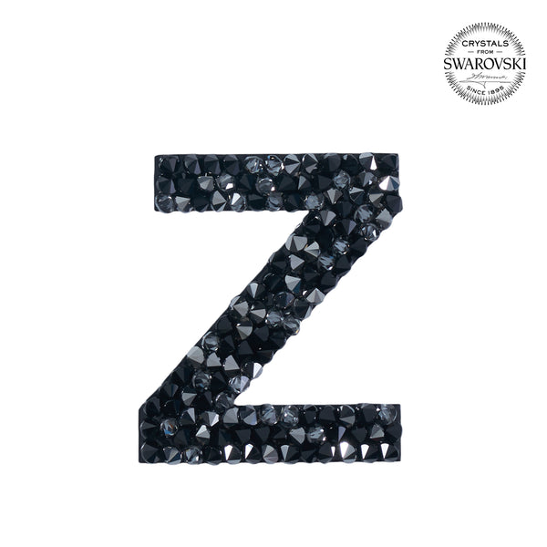 "SWAROVSKI® ADHESIVE STICKER ""Z"" - BLACK"