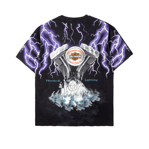 Vintage Custom Tee with Crystals from Swarovski® - PISTON LIGHTNING