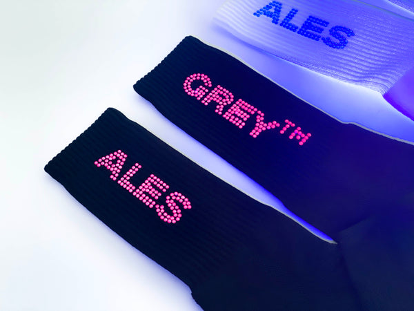 UV SWAROVSKI SOCKS - OFF WHITE