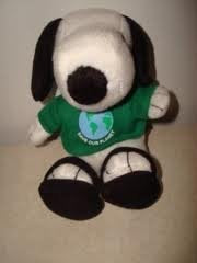 Snoopy Save Our Planet Met Life 6 1/2 Plush