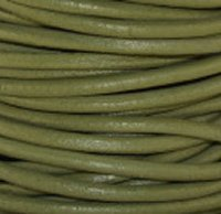 #123 Absinth Round Leather Cord 1.5Mm (1/64 ) X 10 Meters (10.93 Yds)