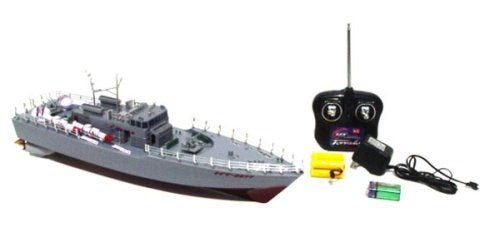World Racing Grey Warship Navy 20' Inch Remote Control Boat Ht-2877