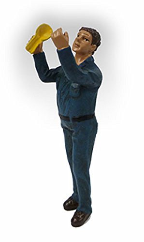 Mechanic At Work John Figure, Blue - American Diorama Figurine 23908Ad - 1/24 Scale