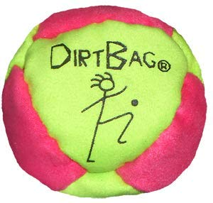 Dirtbag Classic Footbag - Fluorescent Green/Magenta