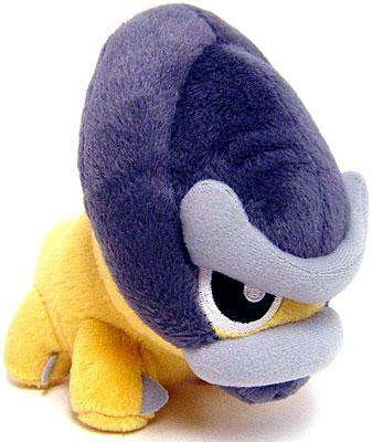 Official Nintendo Pokemon Diamond & Pearl Plush Toy - 6 Shieldon (Japanese Import) By Banpresto
