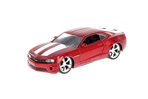2010 Chevy Camaro, Red W/White Stripes - 96945 - 1/32 Scale Diecast Model Toy Car