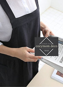 Cozymom Chef Japanese Cloth Style Natural Linen Cotton Apron-Black Color