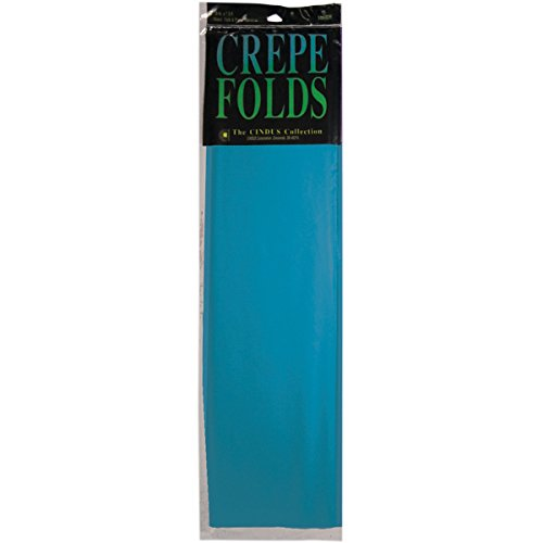 Cindus Crepe Folds, 20  By 7.5', Turquoise