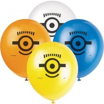 Unique Party Supplies - Despicable Me2 -8 Heliium Quality Balloons By Unique Industries [Toys & Games]