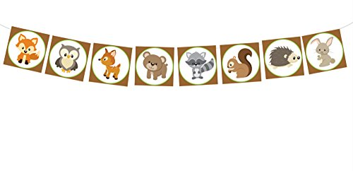 Woodland Banner, Woodland Garland, Woodland Baby Shower, Woodland Nursery, Woodland Decorations, Woodland Party Supplies, Forest Animals
