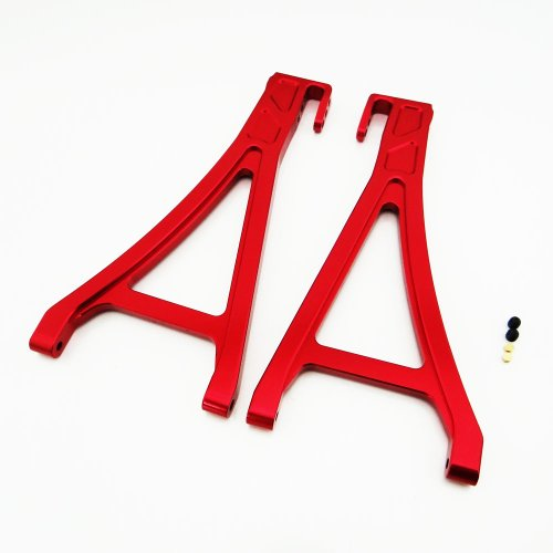 Traxxas E-Revo 1:10 Aluminum Alloy Front Lower Arm Hop Up Upgrade, Red By Atomik Rc - Replaces Traxxas Part 5331/5332