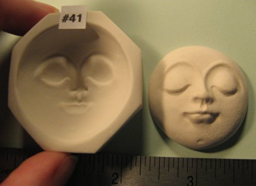 #0041 - Rigid Polymer Clay Round Oval Sun Moon Doll Face Cab Push Press Mold Mould