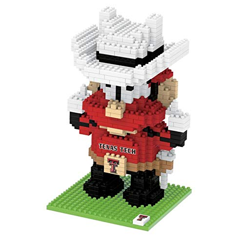 Foco Ncaa Texas Tech Red Raiders 3D Brxlz Mascot Building Blocks Set3D Brxlz Mascot Building Blocks Set, Team Color, One Size