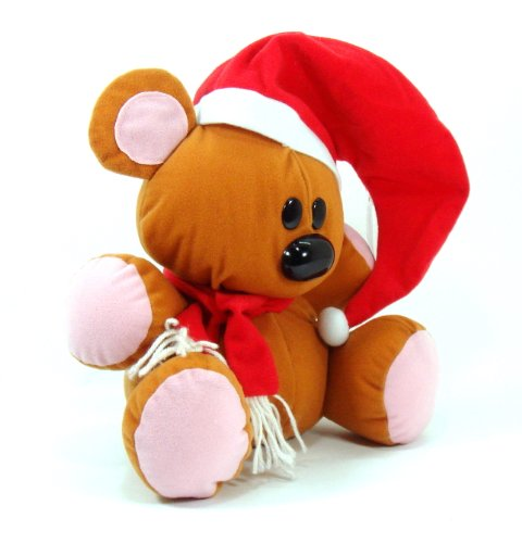 Pooky Bear 10 Plush Christmas Doll By Garfield