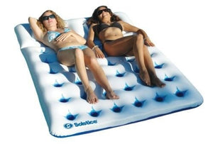 New Two Person Swimming Pool Floating Mattress River Water Mat Sun Lounger Mats