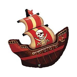 Pirate Ship 40 Mylar Balloon