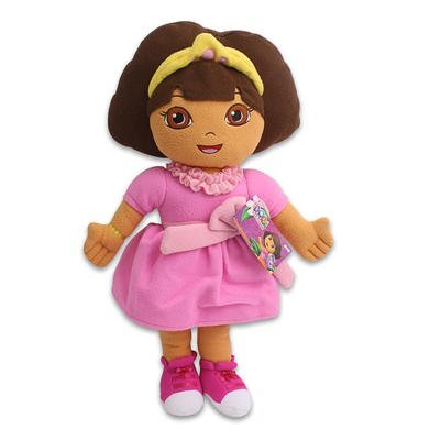Dora The Explorer Princess Dress Plush Pillow (24 Inch)