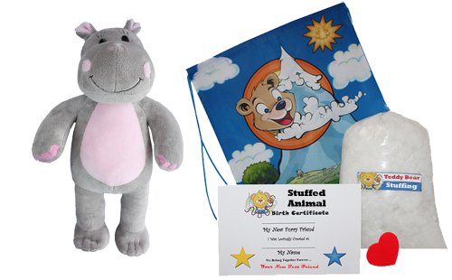 Make Your Own Stuffed Animal Happy The Hippo - No Sew - Kit With Cute Backpack!