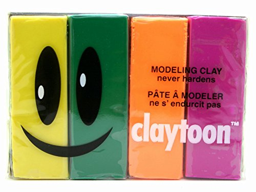 Cec Modeling Clay Claytoon 1Pound 4 Color Set Festa