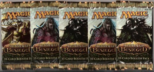 5 (Five) Packs Of Magic The Gathering - Mtg: Mirrodin Besieged Booster Pack Lot (5 Packs)