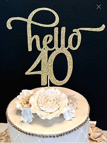 Hello 40 Number Cake Topper
