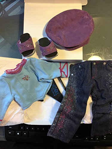 American Girl Glitter Jeans Outfit For 18 Inch Doll - No Doll-