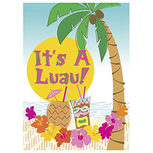 Island Luau Invitations W/ Envelopes (8Ct)
