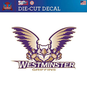 Victory Tailgate Westminster College Griffins Die-Cut Vinyl Decal Logo 2(12 Inch)