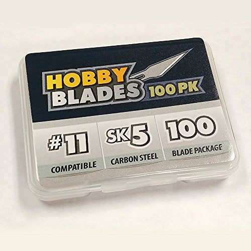 #11 Hobby Blades - Precision Cut Sk5 Carbon Steel For Art And Craft -