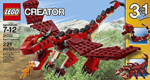 Brick Box Building Creator 3-In-1 Lego 221 Pcs Red Creaturestoys