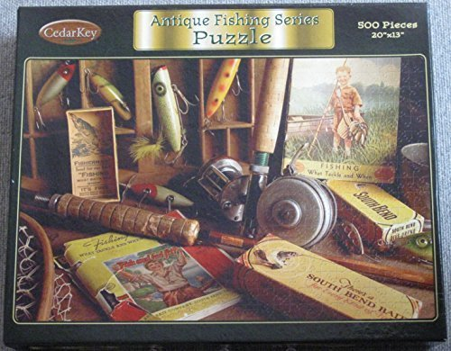 Cedar Key Antique Fishing Series 500 Piece Jigsaw Puzzle - South Bend Collection