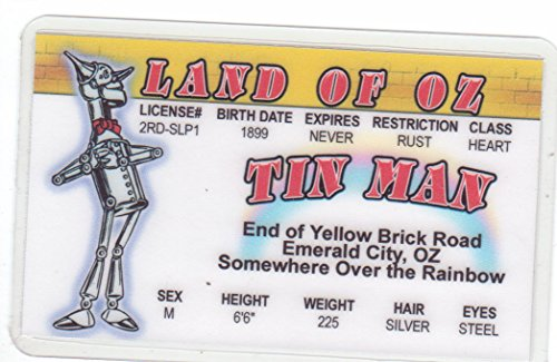 Tin Man Of The Wizard Of Oz Land Of Oz Novelty Drivers License / Fake I.D. Identification For Jack Haley / W.W. Denslow Fans