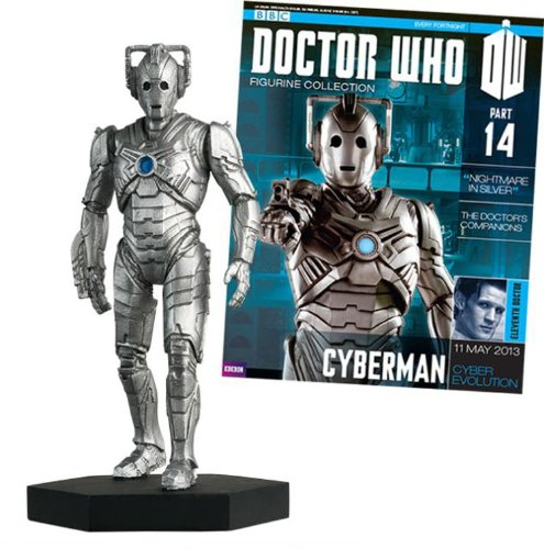 #14 Cyberman Doctor Who Figurine With Collector Magazine-Eaglemoss