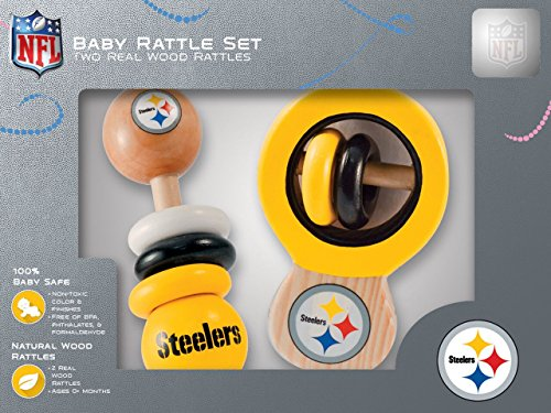 Nfl Pittsburgh Steelers Baby Rattle Set -