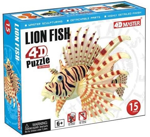 Lion Fish 4D Fish Puzzle 15 Pieces Realistic Detail
