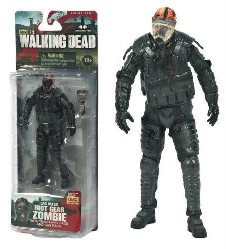 The Walking Dead Tv Series 4 Gas Mask Riot Gear Zombie Amc Figure By Happy Toys