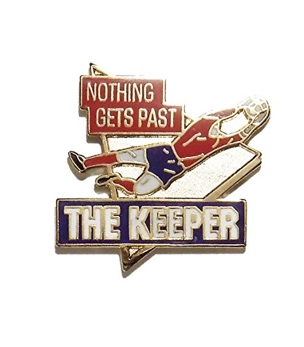 # 285 Nothing Gets Past The Keeper Soccer Pin (1 Inch Actual Size)
